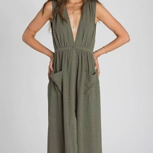 NWT Billabong Green Maxi Dress -size medium